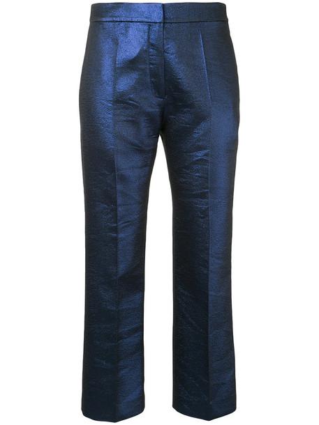 GINGER & SMART cropped women blue pants