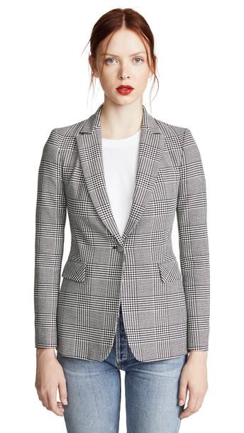 blazer white black jacket