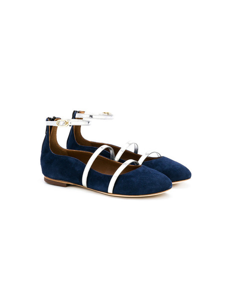 MALONE SOULIERS shoes leather blue suede
