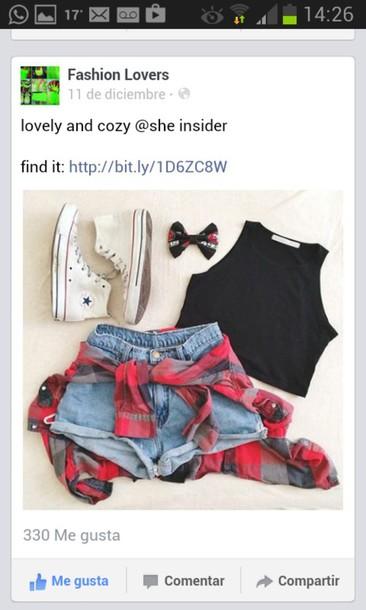 shorts shoes cardigan top shirt tank top tumblr black crop top