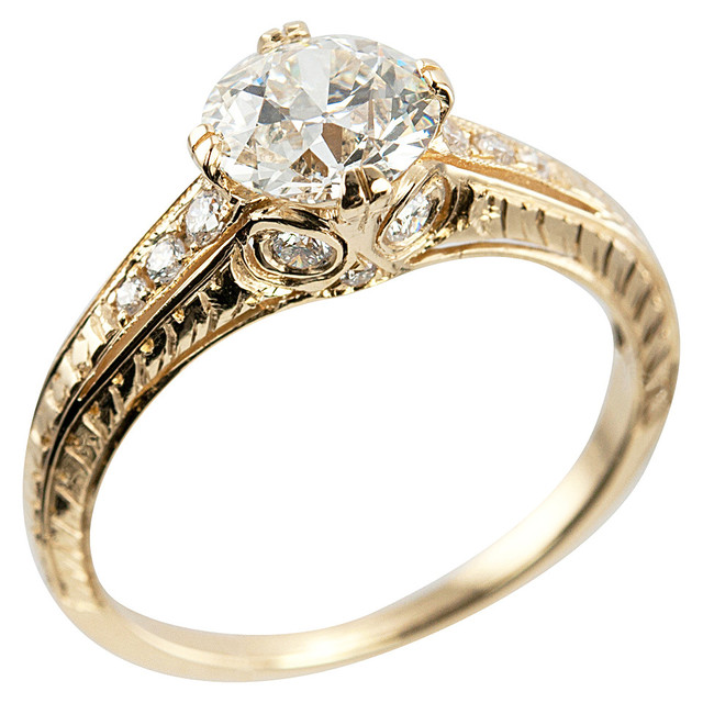 105 carat diamond gold engagement ring 9132 shop - How Much Do Wedding Rings Cost