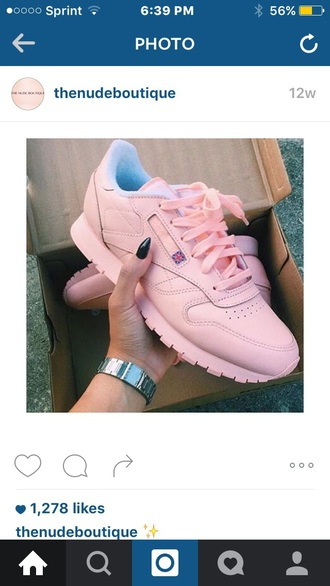 shoes pastel pink reebok urban outfitters