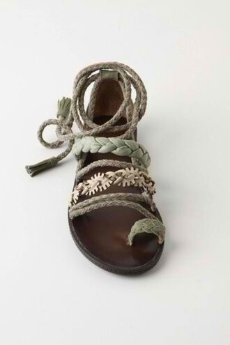 shoes coquillage sandals lace