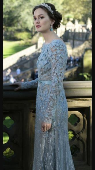 dress bleu wedding dress jewels