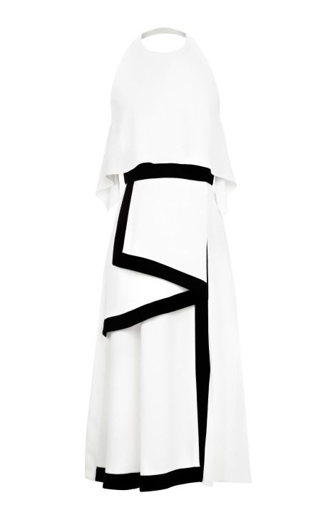 Cady stretch dress with slit by peter som