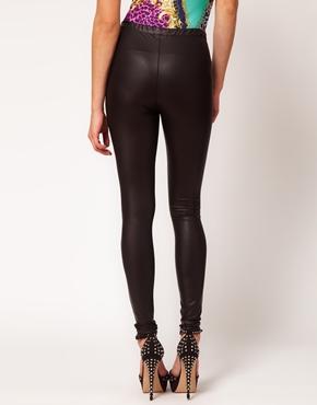 ASOS Petite | ASOS PETITE Leggings In Leather Look at ASOS
