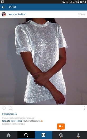 t-shirt glitter shiney sequin shirt