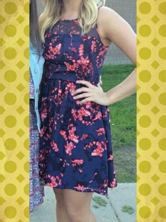 dress pink flowers short dress pretty dress
