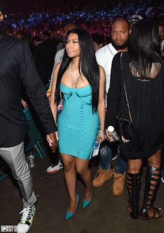 dress nicki minaj jewels shoes bandage dress bodycon dress