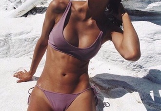 swimwear bikini pink pink swimwear pink bikini purple purple bikini bikini top bikini bottoms metallic swimwear plum metallic plum lilac mauve rose dusty lilac mauve metallic skimpy swimwear minimal swimwear metallic