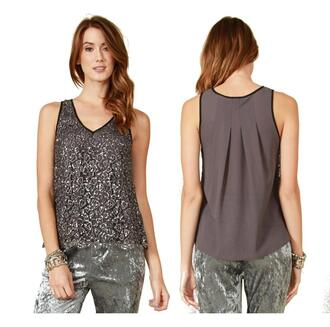 Blouse shirt top loose sleeveless tank top party outfits junior