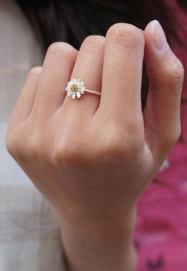jewels flower rings pretty rings