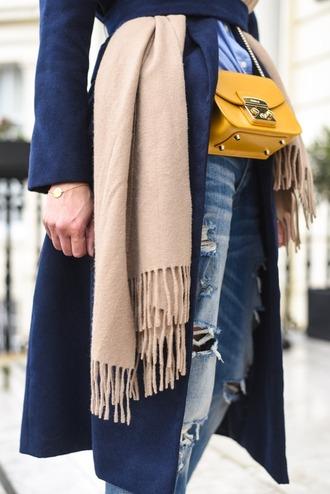 thank fifi blogger coat shirt shoes scarf bag
