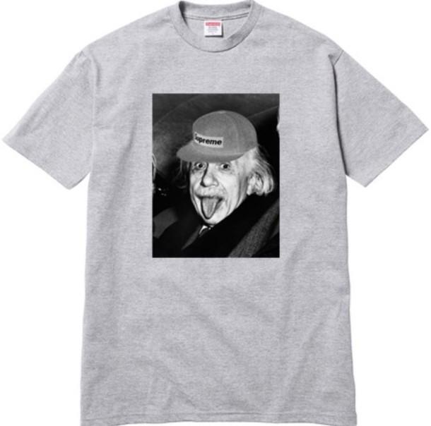 ce41398f3 shirt albert einstein supreme t-shirt men t-shirt menswear einstein albert supreme  t