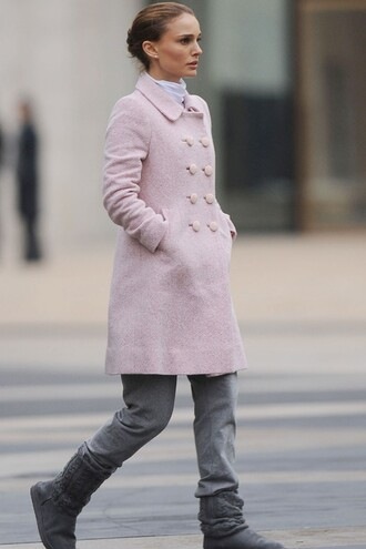winter powder pink light pink ballet ballet pink black swan natalie portman winter coat