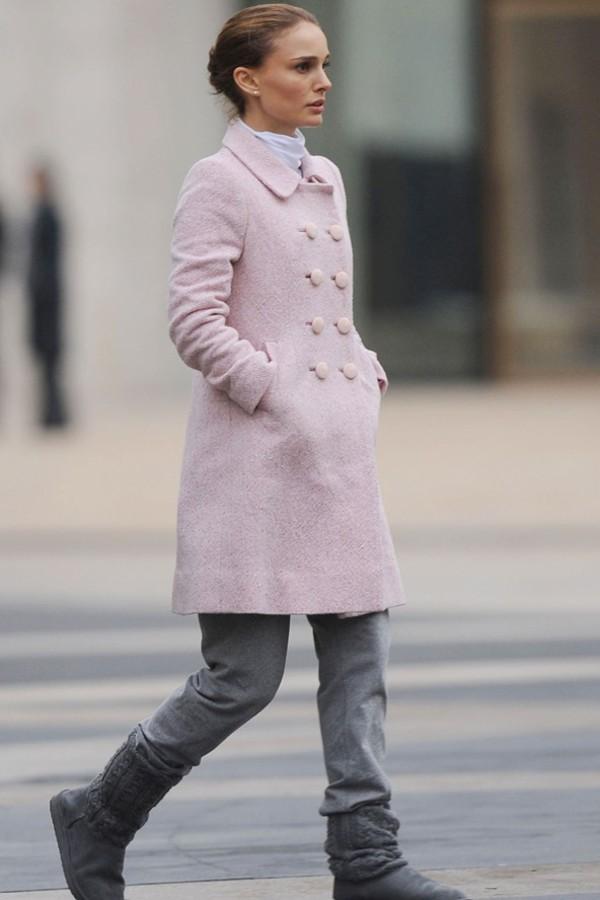 winter outfits powder pink light pink ballet ballet pink black swan natalie portman winter coat