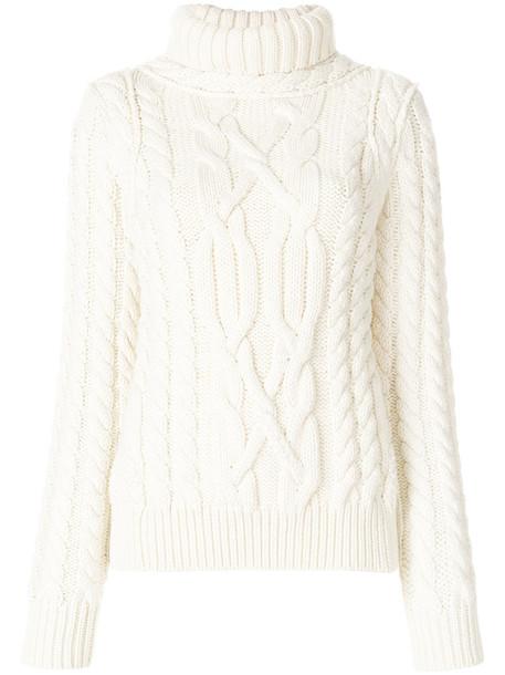 MONCLER GRENOBLE sweater turtleneck turtleneck sweater women white wool knit