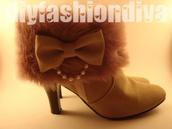 shoes,high heels,fluffy,bow,cute