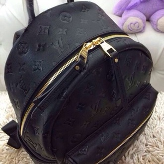 bag black black bags louis vuitton louis vuitton tote leather backpack