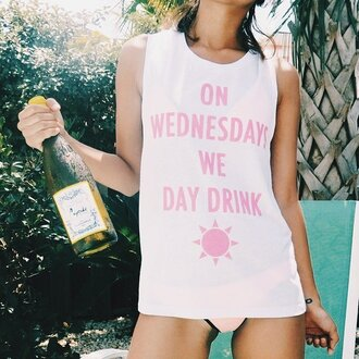 wine sun funny tunic tank top sleeveless summer outfits bathing suit cover up wednesday quote on it shirt