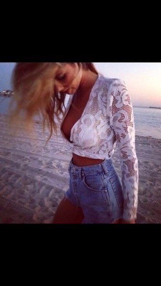 tank top white lace top