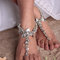 Beach wedding barefoot sandal,bridal swarovski crystal barefoot sandals,boho slave anklet,wedding anklet,bridesmaid accessories