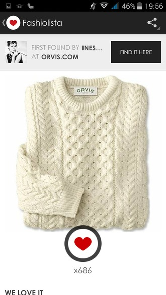 sweater pull blanc laine