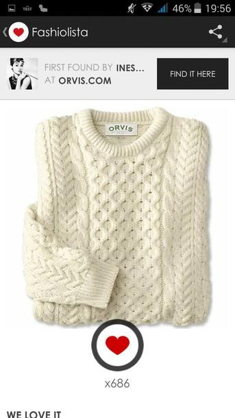 sweater pull blanc laine