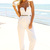 White Jump Suits/Rompers - White Strapless Pantsuit with Plunge | UsTrendy