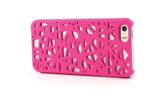 phone cover nid d'oiseau pink geometric