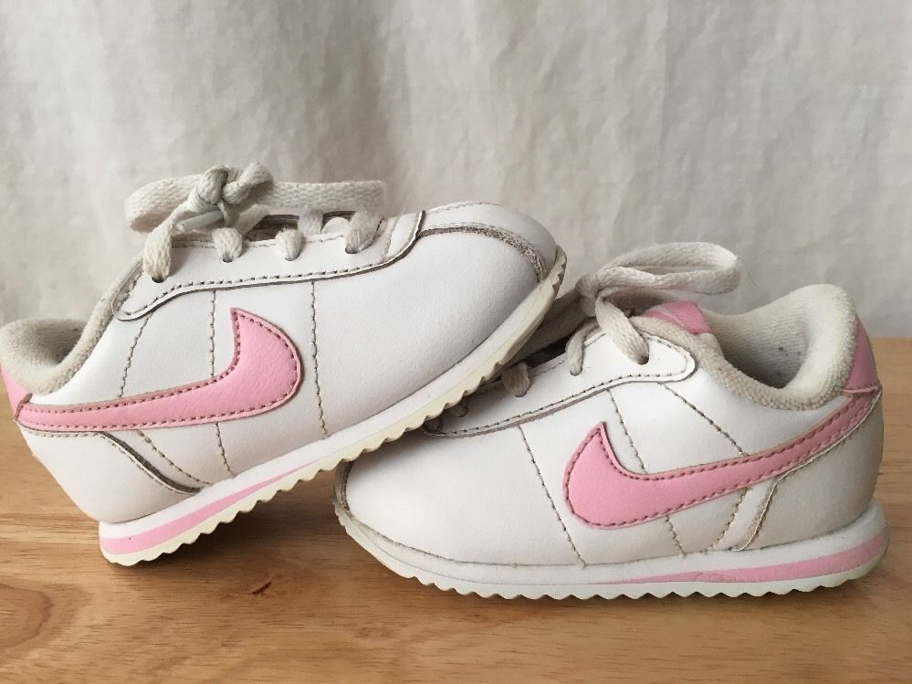 quality design f8fb6 572b9 Nike Cortez Shoes Baby Toddler Size 5C Pink And White