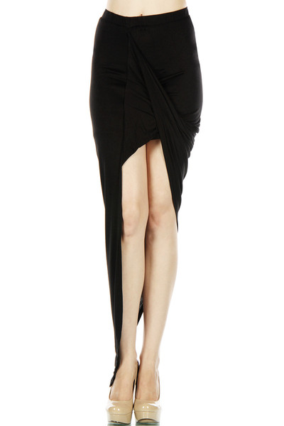 Twisted front open skirt