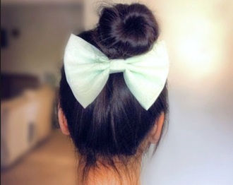 hair accessories bows pastell hair bow