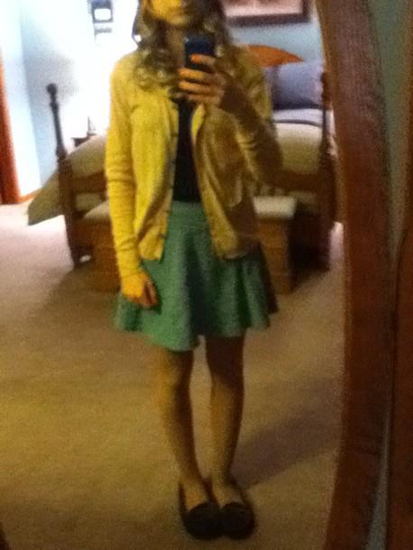 shirt floral skirt skater skirt
