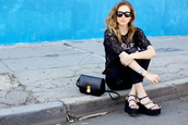 the blonde salad,shoes,jeans,top,jewels,sunglasses,bag,black,lace,t-shirt