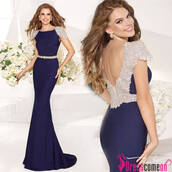 dress,mermaid prom dress,royal blue evening dress,backless dress,evening dress,party dress,long dress,beautiful,mermaid wedding dress,royal blue dress,royal blue prom dress,backless dress with beading,backless,cap sleeves dresses,evening outfits,evening dress 2013,long dresses 2014,beautiful red dress