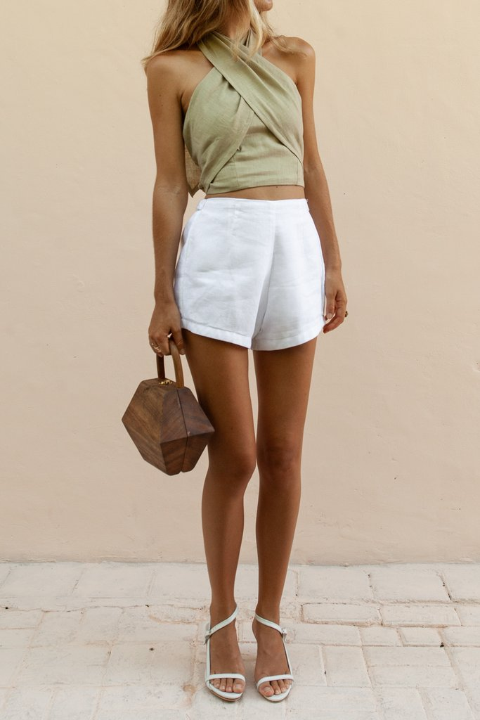 LOTTIE HOT PANT - WHITE