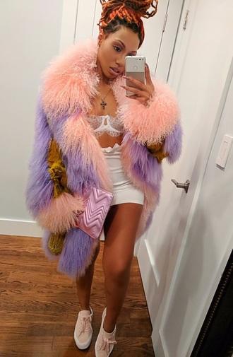 coat roxy brown fur coat pink pink fur coat purple fur