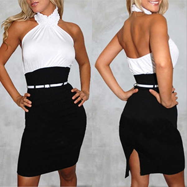 Sexy backless dress x / melodyclothing