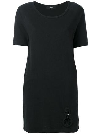 dress shirt dress t-shirt dress women cotton black
