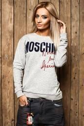 moschino,grey sweater