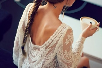 dress lace dress white dress coffee vintage vintage wedding dress fishtail braid white lace dress trendy lace top