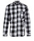 Mcq alexander mcqueen black and white check raw pocket shirt