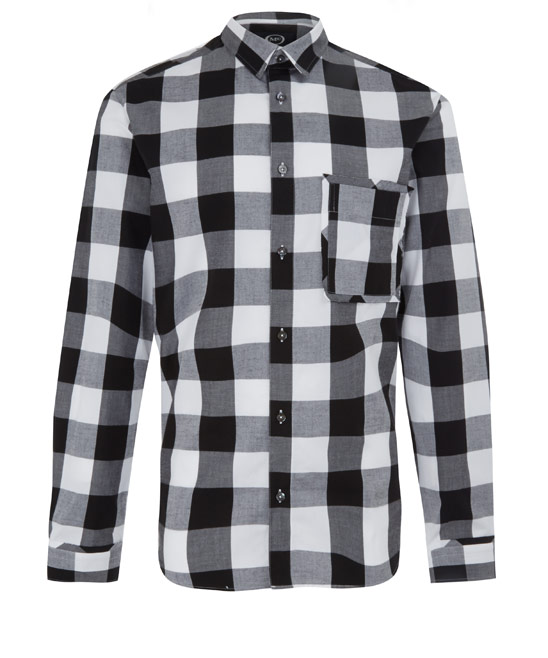 McQ Alexander McQueen Black and White Check Raw Pocket Shirt | Men's Shirts | Liberty.co.uk