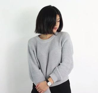 sweater texture knitwear grey sweater