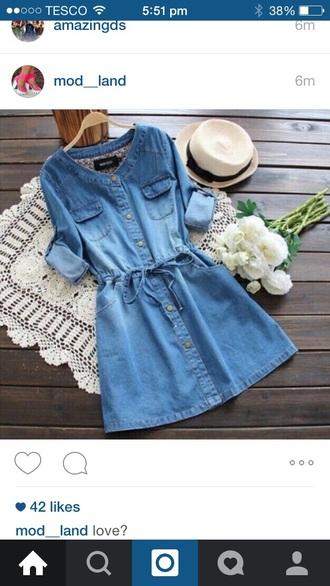 dress denim blue jeans denim dress