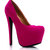 GJ | Faux Suede Platform Pumps $42.40 in BLACK FUCHSIA RED TEAL - New Shoes | GoJane.com