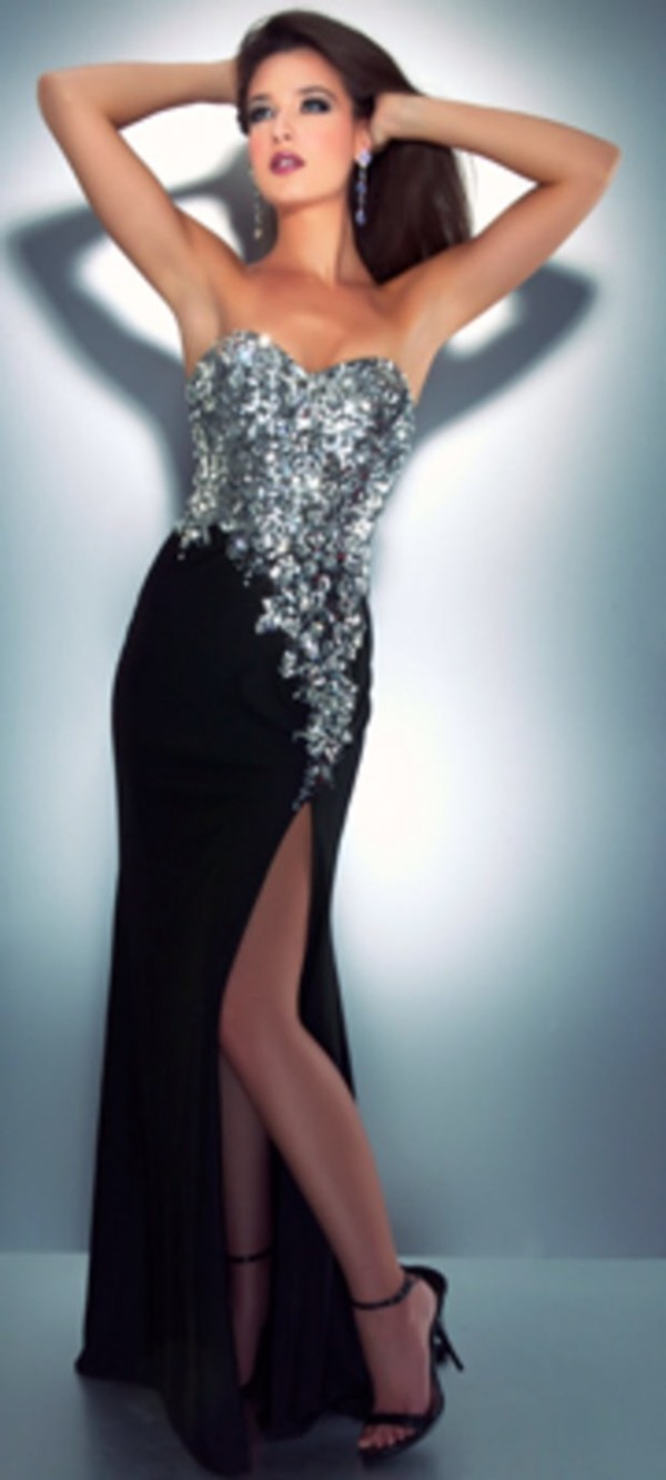dress long prom dress black prom dress