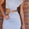 Cute bow grey dress