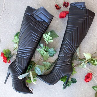 shoes booties boots quilted boot heel boots high heels boots high heels black stiletto boot stilettos gojane